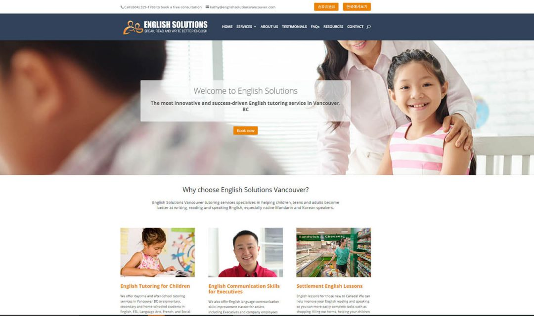English Solutions Vancouver – English Tutor Vancouver