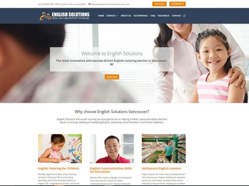 English Solutions Vancouver – English Tutor Vancouver